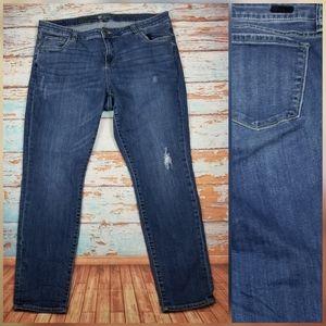 Kut from the kloth boyfriend denim jeans sz 14W